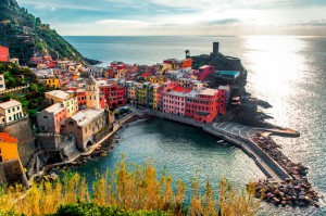 Aerial View Of Vernazza - Small Italian Town In The Province Of
